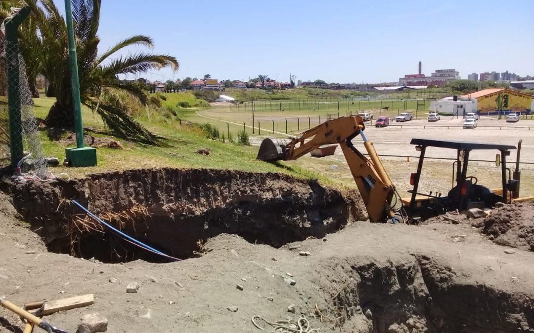 Progresan las obras para potenciar la Estación Elevadora Cloacal de Punta Mogotes