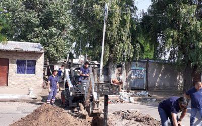 OSSE ejecutó extensión de las redes de agua y cloaca en merendero comunitario