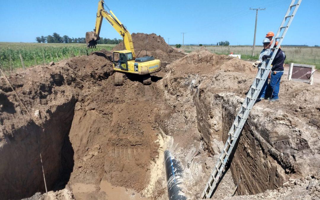 Acueducto Oeste: se trabaja en la colocación de válvulas y empalmes secundarios previo a su conexión con el Sistema Norte