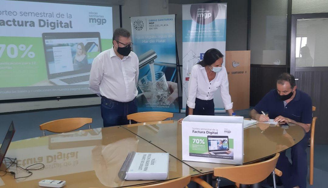 OSSE volvió a premiar a quienes eligieron la factura digital