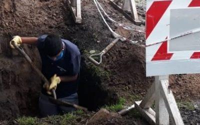 OSSE dispuso conexiones de agua y cloaca para reconocida ONG