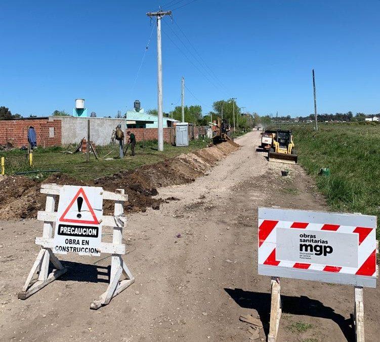 Continúan las obras de ampliación de la red de agua en zona norte