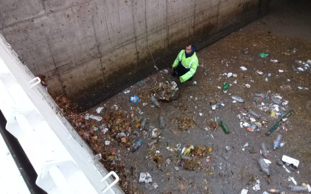"""Desagüe Pluvial """"Arroyo del Barco"""": Marcada efectividad de la reja de contención de residuos"""