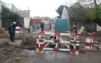 Centro de Abastecimiento de Agua de Tucumán y Almafuerte: Nuevo  empalme de cañerías para ingresar en la etapa final de obra
