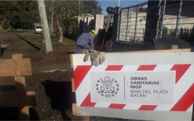 OSSE finalizó la ampliación de una parte de la red cloacal en Faro Norte