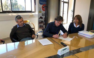 OSSE rubricó contrato para potenciar la Estación Elevadora Cloacal de Punta Mogotes